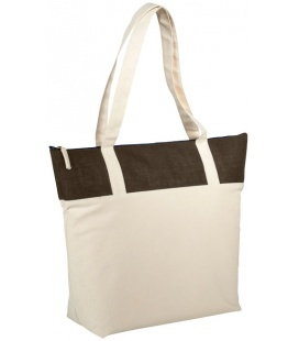Jute and Cotton Zipped ToteJute and Cotton Zipped Tote Bullet