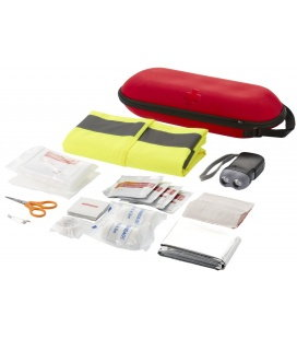 47-piece first aid kit with safety vest47-piece first aid kit with safety vest Bullet