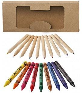 Lucky 19-piece coloured pencil and crayon setLucky 19-piece coloured pencil and crayon set Bullet