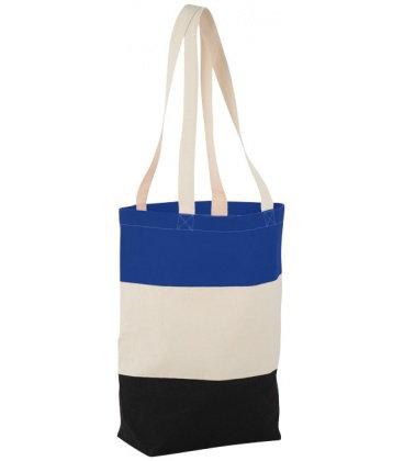 Colour-block 227 g/m2 cotton tote bagColour-block 227 g/m2 cotton tote bag Bullet