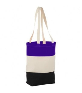 Colour-block 227 g/m2 cotton tote bagColour-block 227 g/m2 cotton tote bag Bullet