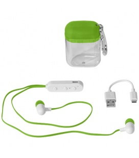 Budget Bluetooth® Earbuds in Carabiner CaseBudget Bluetooth® Earbuds in Carabiner Case Bullet