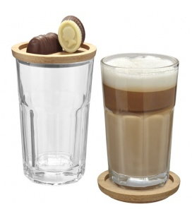 Linden 2-piece glass set with coasterLinden 2-piece glass set with coaster Seasons