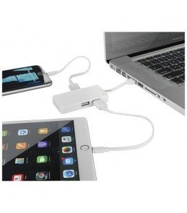 Grid 4-port USB hub with dual cablesGrid 4-port USB hub with dual cables Bullet