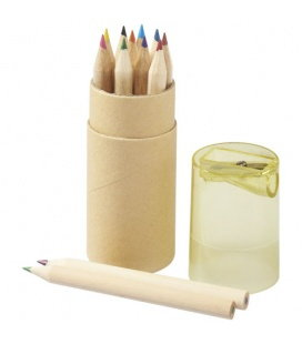 Hef 12-piece coloured pencil set with sharpenerHef 12-piece coloured pencil set with sharpener Bullet