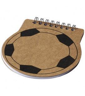 Fotbalově tvarovaný zápisník Score Bullet