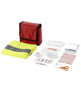 Atlas 18-piece first aid kit and safety vestAtlas 18-piece first aid kit and safety vest Bullet