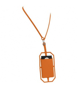 Fort-rock silicone RFID card holder with lanyardFort-rock silicone RFID card holder with lanyard Bullet