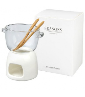 Belgium glass chocolate fondue setBelgium glass chocolate fondue set Seasons