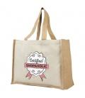 Varai 340 g/m2 canvas and jute shopping tote bagVarai 340 g/m2 canvas and jute shopping tote bag Bullet