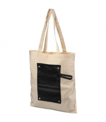 Snap 180 g/m2 roll-up buttoned cotton tote bagSnap 180 g/m2 roll-up buttoned cotton tote bag Bullet