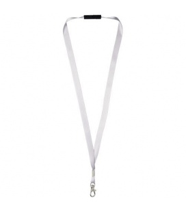 Oro ribbon lanyard with break-away closureOro ribbon lanyard with break-away closure PF Manufactured