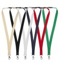 Dylan cotton lanyard with safety clipDylan cotton lanyard with safety clip Bullet