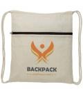 Oregon zippered drawstring backpackOregon zippered drawstring backpack Bullet