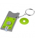 Allegro LED keychain light with coin holderAllegro LED keychain light with coin holder Bullet