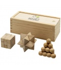 Brainiac 3-piece wooden brain teaser setBrainiac 3-piece wooden brain teaser set Bullet